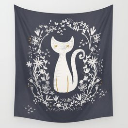abstract kitty Wall Tapestry
