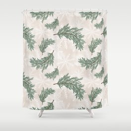 Christmas Tree Branch Pattern Shower Curtain