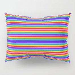 Tiny stripes of rainbow colors Pillow Sham