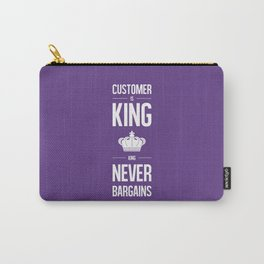 Lab No. 4 - Customer is king Business Motivational Typography Quotes Poster Carry-All Pouch