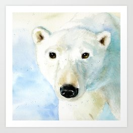Snow Bear! Art Print
