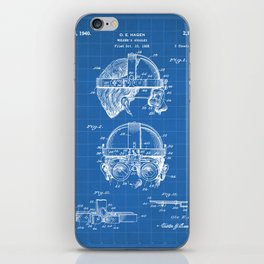 Welding Goggles Patent - Welder Art - Blueprint iPhone Skin