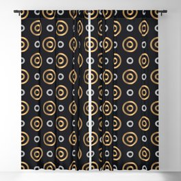 Elegant Faux Gold and Silver Circles Pattern Blackout Curtain
