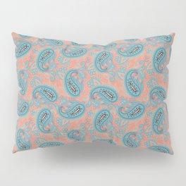 Meredith Paisley - Coral Pink Pillow Sham