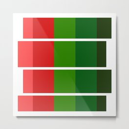 Christmas color bar Metal Print