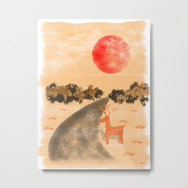 Under The Red Moon Metal Print