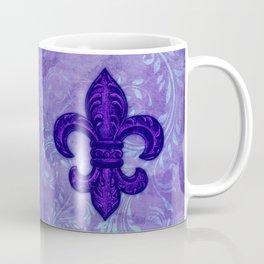 Purple Fleur de Lis Coffee Mug