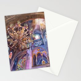 Notre Dame interior Stationery Cards