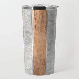 Wood Grain Stripes - Concrete #347 Travel Mug