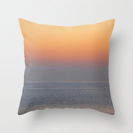 sunset by the sea Throw Pillow