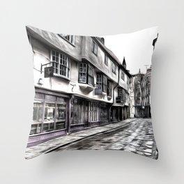 The Shambles York Art Throw Pillow