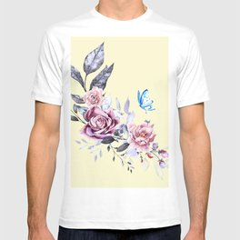flower and butterfly T-shirt