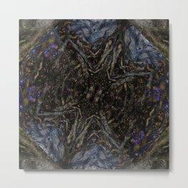 Tree Root Fractal Metal Print
