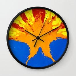 Arizona Flag (Poured Acrylic Style) Wall Clock