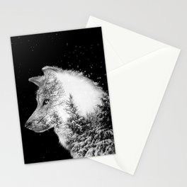 Winter Wolf Stationery Cards