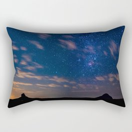 Milky Way over the Glass House Mountains Rectangular Pillow