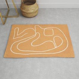 Abstract line art 18 Rug