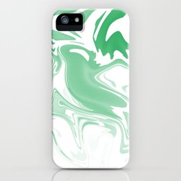 Green Abstract Ink iPhone Case