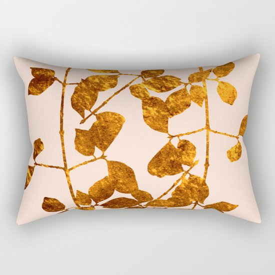 fall golden leaves Rectangular Pillow