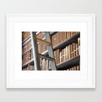 library Framed Art Prints featuring Library by Chris Kavs