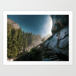 Mist Trail, Yosemite Art Print