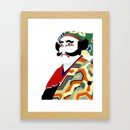 Kabuki actor vector Framed Art Print