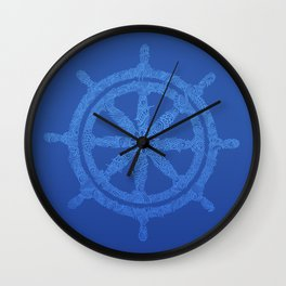 A Lost Ship Wheel Wall Clock