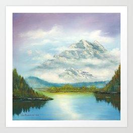 Mist In Mountains Art Print