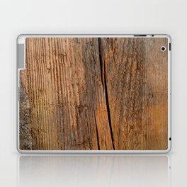 Linden wooden pattern with crack Laptop & iPad Skin