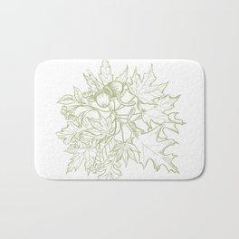 Leaf Mix Green Bath Mat