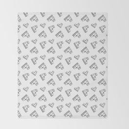Roller-skates sport pattern Throw Blanket