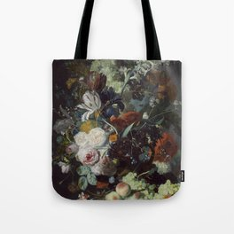Jan van Huysum Still Life with Flowers and Fruit Tote Bag