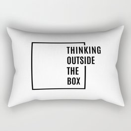 Thinking outside the box Rectangular Pillow