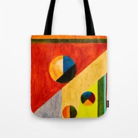 balance Tote Bags featuring BALANCE by THE USUAL DESIGNERS