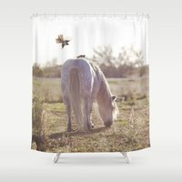 grace Shower Curtains featuring grace by With Love & Lace...