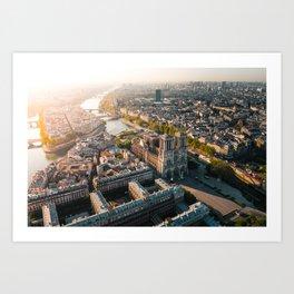 Notre Dame Rise Again Art Print