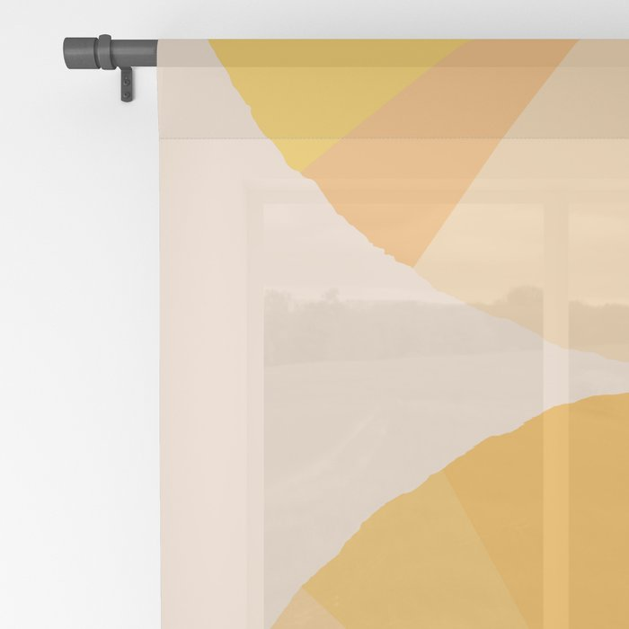 Abstraction_YELLOW_SUNLIGHT_Minimalism_001 Sheer Curtain
