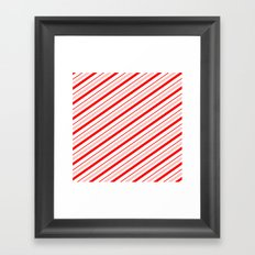 Candy Cane Stripes Framed Art Print