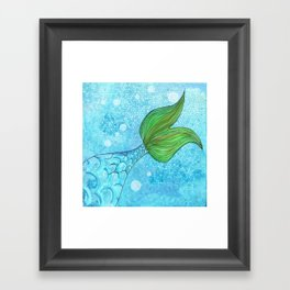 Mysterious Mermaid Framed Art Print