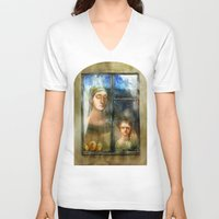 window V-neck T-shirts featuring Window by Iris V.