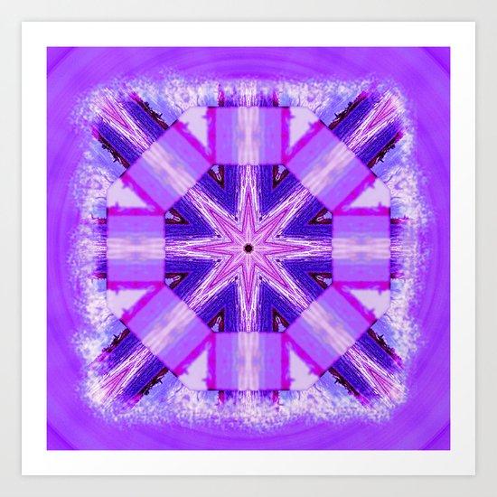 Bay Kaleidoscope in Purples Art Print