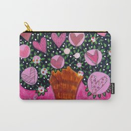 Love Grows  - Pink Tree Carry-All Pouch