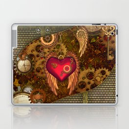 Steampunk, heart with wings Laptop & iPad Skin