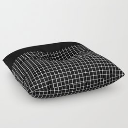 Dotted Grid Boarder Black Floor Pillow
