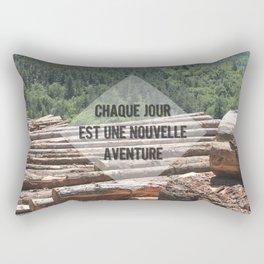 the wood factory II Rectangular Pillow