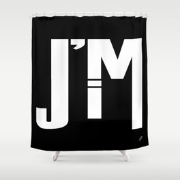 I'M JIM (white) Shower Curtain