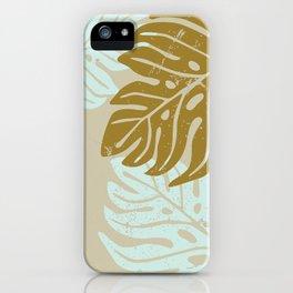 Hawaiian leaves pattern N0 3, Art Print collection, illustration original pop art graphic print iPhone Case
