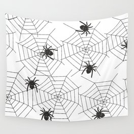 Black Spider Halloween web Wall Tapestry