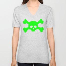 Toxic Skull Unisex V-Neck
