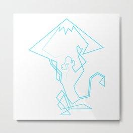 Hanuman Mountain Metal Print